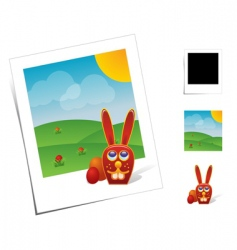 Animal scenes vector
