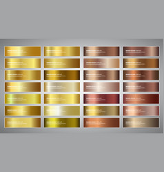 Banners with gold and bronze gradient vector