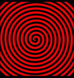 Black red round abstract vortex hypnotic spiral vector