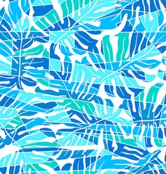 Blue abstract surf pattern in a seamless pattern vector