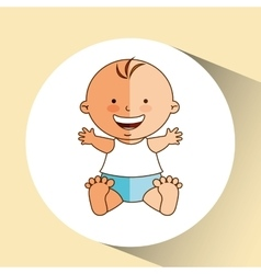 boy baby cute smiling icon graphic vector image