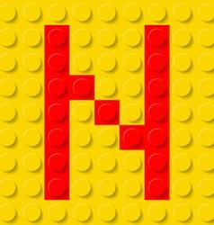 Building kit of plastic Font 14 vector
