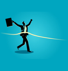 businessman at finish line vector image