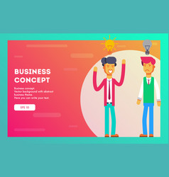 businessman with new idea and one without vector image