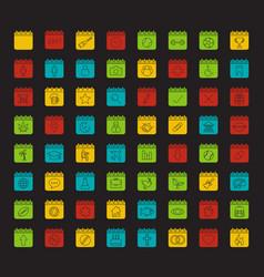 Calendars glyph color icon set vector
