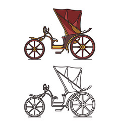 carriage xix century victorian french chariot vector image