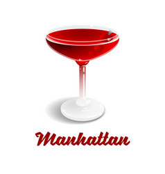 Cocktail manhattan vector
