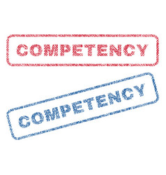 Competency textile stamps vector