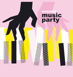 concept modern music poster vector image