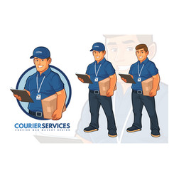 courier services mascot design vector image