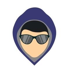 Criminal man vector