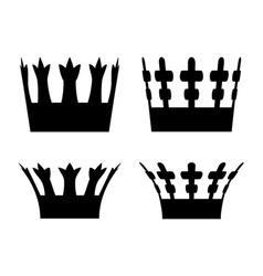 Crown symbols vector