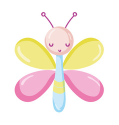 cute butterfly adorable insect isolated icon vector image