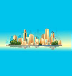 Day city landscape vector