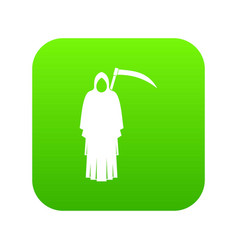 death with scythe icon digital green vector image