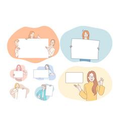 demonstration promotion advertisement concept vector image