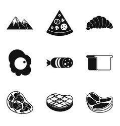 despatch office icons set simple style vector image vector image