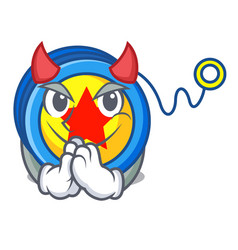 Devil yoyo mascot cartoon style vector