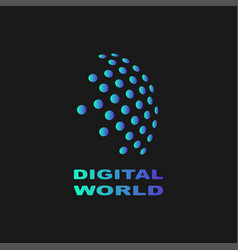 Digital world abstract symbol technology vector