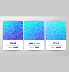 Diving flyer concepts vector