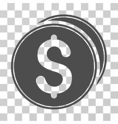 Dollar Coins Icon vector