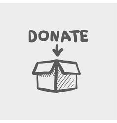 Donation box sketch icon vector image