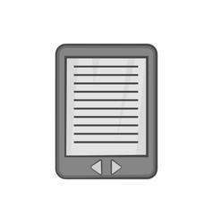 E-book icon black monochrome style vector