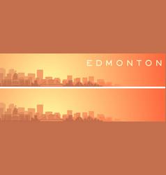 Edmonton beautiful skyline scenery banner vector
