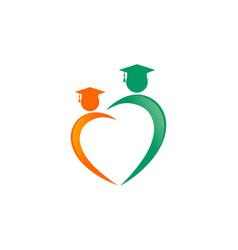 education love logo vector image