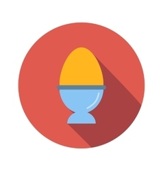 Egg flat icon vector