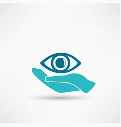 Eye protection or eye doctor concept vector