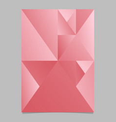 Geometrical polygonal abstract triangle flyer vector