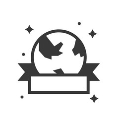 Globe or planet earth icon with ribbon vector