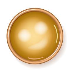 Golden plaque vector