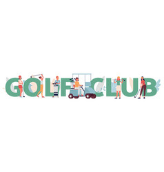 golf club banner template with women golf players vector image