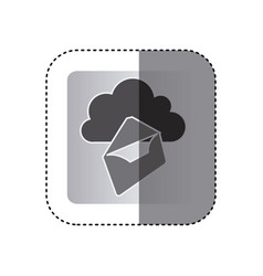 gray cloud letter network icon vector image