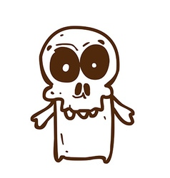 Hand Drawn Skeleton vector image