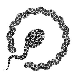 Insemination collage of dots vector