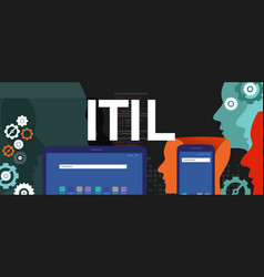 itil information technology infrastructure library vector image
