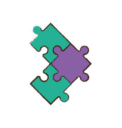 Jigsaw puzzle pieces image vector