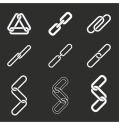 Link icon set vector