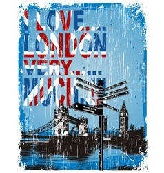 love london vector image