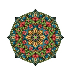 Mandala pattern flower vector