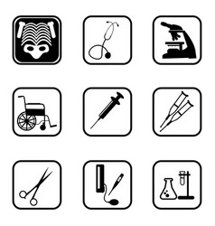 medical icons with white background vector image vector image