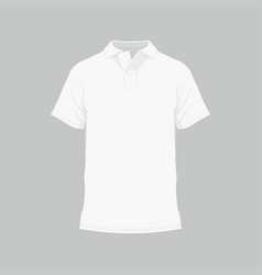 mens white t-shirt vector image