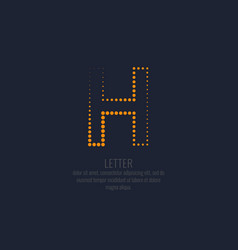modern dotted letter h of the latin alphabet vector image