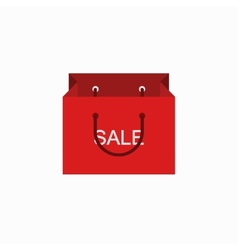 modern shopping sale icon on white vector image
