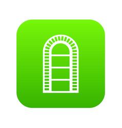 narrow window frame icon green vector image