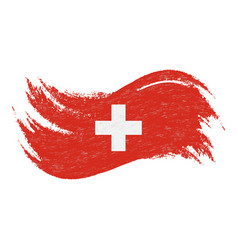 National flag of switzerland designed using brush vector