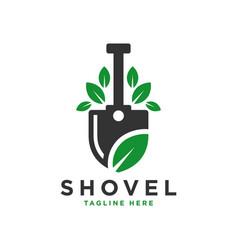 natural spade leaf logo vector image